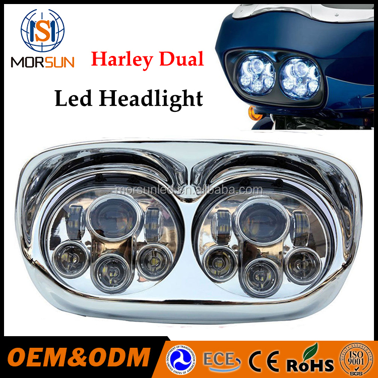 "5.75"" 5 3/4 LED Motorcycle Headlight Daymaker Black Projector headlight DRL For Harley"