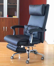 180 Degree Ajustable Executive Reclining Leather Sleeping Office Chair With Footrest