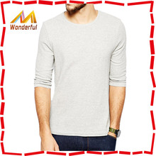 2016 plain long sleeve t shirt Autumn wear 100% cotton oversized men's tshirts
