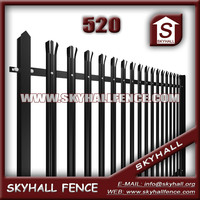 Electric galvanized windproof fencing with palisade fence
