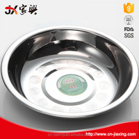 Different size stainless steel round deep breakfast tray