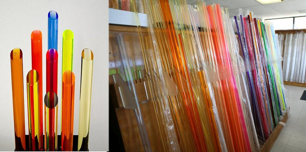 new style high quality clear acrylic threaded rod for decoration
