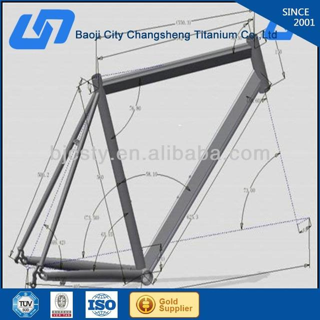 best price full suspension titanium mountain bike frame with CE certificate