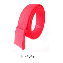 Special cheap promotional products offer Iron belt buckle fabric Mixed pure color polyester fabric belts/wholesale canvas belt