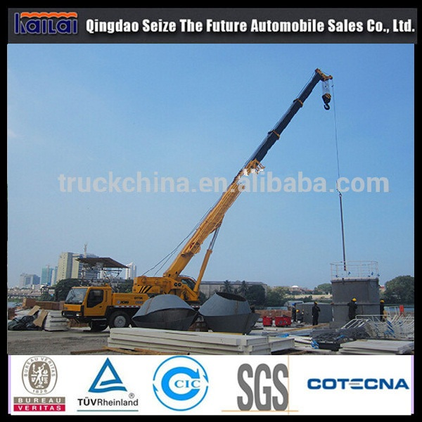 china tuck cranes with 5section telescopic boom truck crane sizes