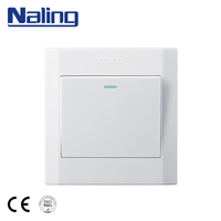Naling Electrical Equipment Domestic One Gang White PC Decorated Wall Switches On Sale