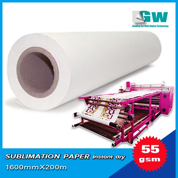 55g 60g 70g 80g heat transfer paper sublimation paper for large format printing
