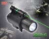 LED Tactical flashlight green laser sight picatinny rail Green Laser Sight (BOB-JGSD)