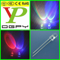 Colorful LED/5mm Muticolor changing led/5mm Fast Flashing LED ( CE & RoHS Compliant )