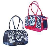Small Dogs Zebra Print Bag Pet Travel Carrier