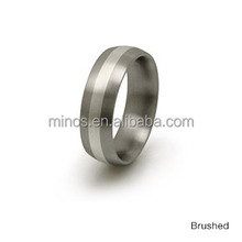 High quality custom design titanium rings for fashion jewelry