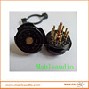 Black bakelite CMC 9Pin vacuum tube socket