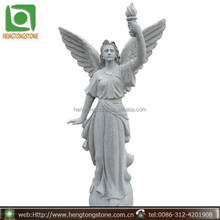 Chinese Hand Carved Granite Angel Statues for Sale