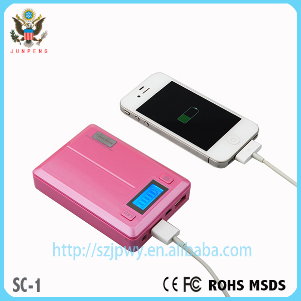 Dual usb charger 18650 battery charger mobile phone universal portable power bank 10000 mah