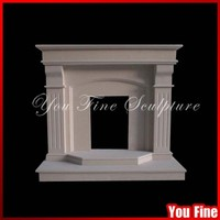 Indoor Used Hand Carved Cheap Marble Fireplace