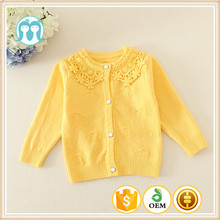 New Yellow Sweater Designs For Kids Computer Knitted/Wool Sweater Design For Girl/Kids Embroidered Sweater Fashion