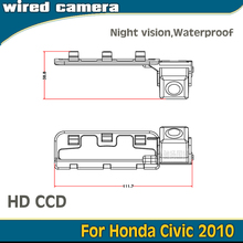 In Stock Wired Wireless Night Vision HD CCD Car Backup Camera For Honda Civic 2010