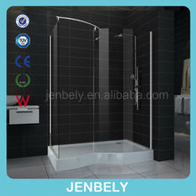 8mm Big Space walk-in Shower Panel for fat person BL-082