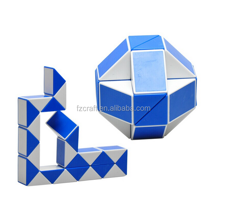 24 Sections Plastic ABS Floding Magic Snake Cube Speed Cube
