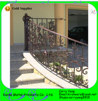 Hebei Factory Price Excellent Exterior Wrought Iron Steel Flat Bar Stair Handrail