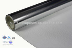 18oz 1.5mm coated fiberglass fireproof fabric aluminum foil covers