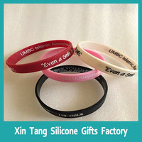 Custom gift RQ code silicone wristband / bracelet / rubber band ,id qr code silicone bracelet with each name and logo