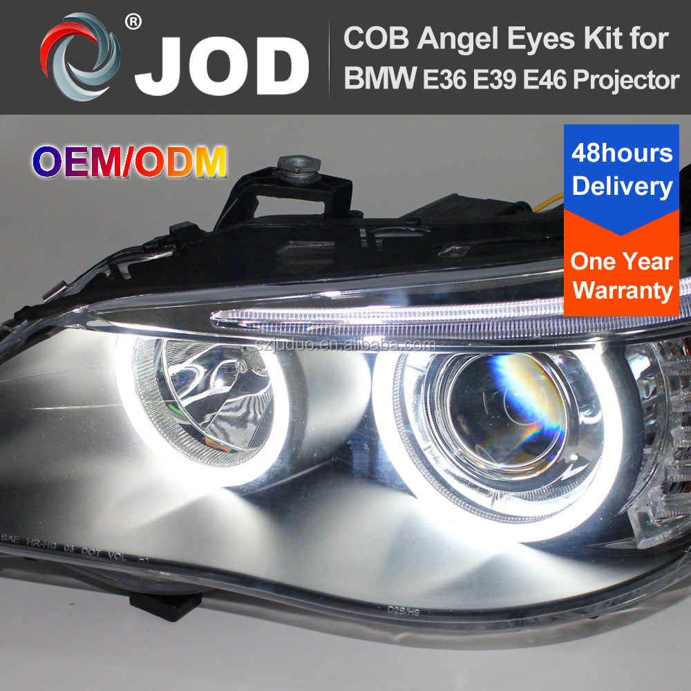 7000K Xenon White COB LED Angel Eyes Halo Ring Lighting Kit for BMW E36 E46 E38 E39 3 5 7 Series