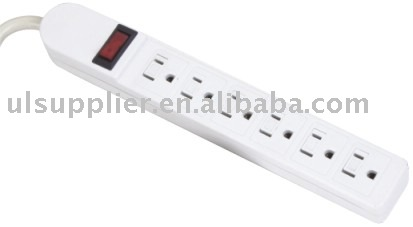 6 outlet UL power strip outlet strip relocatable power tap(09-PT6640)
