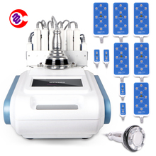 40K+RF Cavitation Ultrasound RF power 160mw 6 Slimming System with Big+4 Small Pads