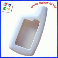 Remote Control Car Alarm Key Silicone Covers with White Color for Car Alarm Key
