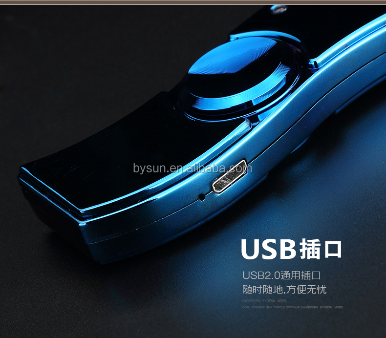 BS-1507 Colorful Fidget hand Finger spinner light usb lighter