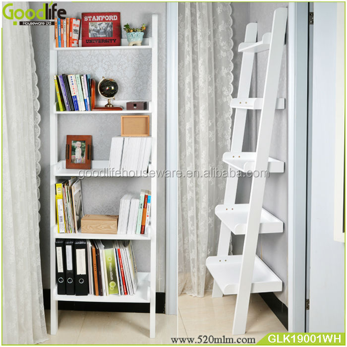 decoratieve houten muur planken boekenkast met ladder houten kasten product id 60217644664. Black Bedroom Furniture Sets. Home Design Ideas