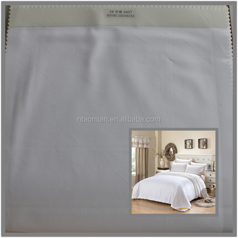 white cotton hotel bedding sets fabrics 100% combed