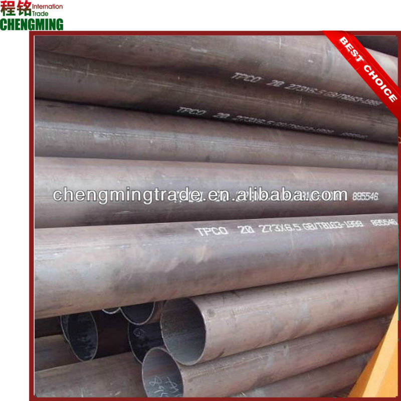 API and ISO certificate, ASTM A106 Gr.B seamless steel pipe,SCH40, Length/5.8M/6M/11.8M/12M. bevelled end,plastic caps.