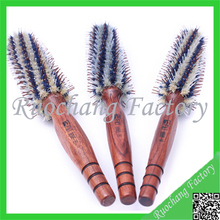 cylinder clean hair with bristle hair brush