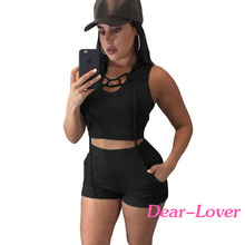 Hot Selling Short Black Hooded Crop Top <strong>Sport</strong> Wear For Women 2016