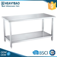 Heavybao Knocked-down Kitchen Center Hotels Stainless Steel Restaurant Working Table