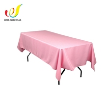 Custom Promotion Advertise Wedding Polyester Style Oriental Wholesale Tablecloth