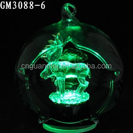 Christmas Glass Baubles with Animal Inside