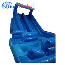High quality giant water slide factory price inflatable water slide with pool for wholesale