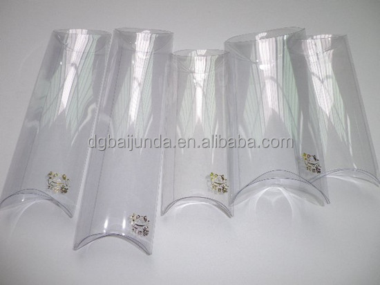 pleasantly cool clear PVC plastic pillow packs