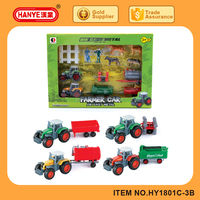 Diecast Gliding Farmer Car Toys for Kids