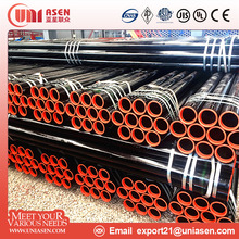 Chinese manufacturer carbon API 5L ASTM A53 welded HFW carbon erw steel pipe