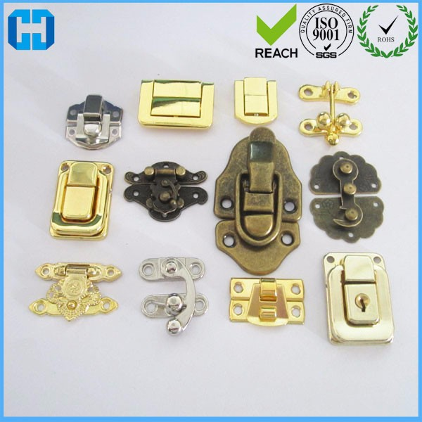 Factory Sypply Various Wooden Box Hardware Small Box Lock Latch Catch