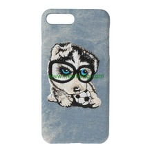 New Product Dog Pet 3D Embroidery Phone Case Cover for iphone 7 Plus