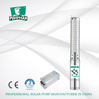 Pumpman 4TSSC high efficiency solar centrifugal submersible water pump borehole pump