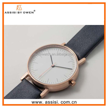 2016 Assisi ,Hot Sale OEM genuine leather strap Mens Watch
