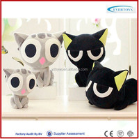 cute grey stuffed plush cat toys for sale