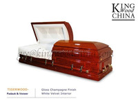 china good wholesale funeral supply TIGERWOOD wooden casket and coffin funeral stretcher mortuary body bags
