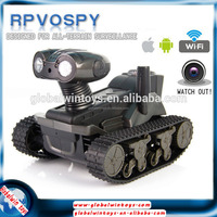 2015 best selling toy LT-728 robot car wifi remote control spy tank video real-time transmission rc robot with camera